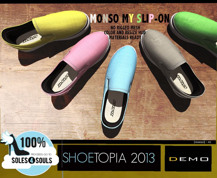 Charity Item - [monso] http://maps.secondlife.com/secondlife/Shoetopia%202/105/35/498