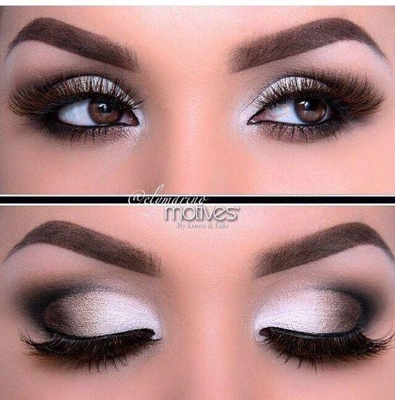 Υπέροχο μακιγιάζ ματιών σε γκρι αποχρώσεις!!!   EimaiOmorfi.gr