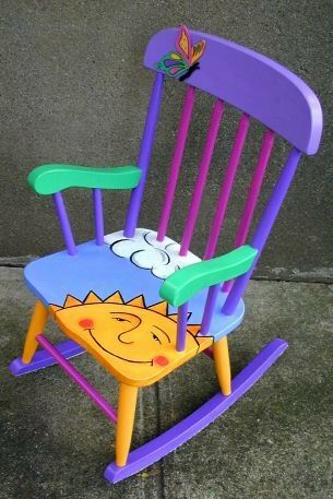 Hand Painted Rocking Chair - perfect for a little girls room or big boho girls who still believe in fairy tales. Description from pinterest.com. I searched for…