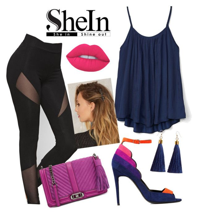 """""""http://www.shein.com/Black-Mesh-Insert-Leggins-p-333976-cat-1871.html?utm_source=polyvore&utm_medium=contest&urlm=polyfashionoutfitcon"""" by safeta-i ❤ liked on Polyvore featuring Gap, Pierre Hardy and Rebecca Minkoff"""