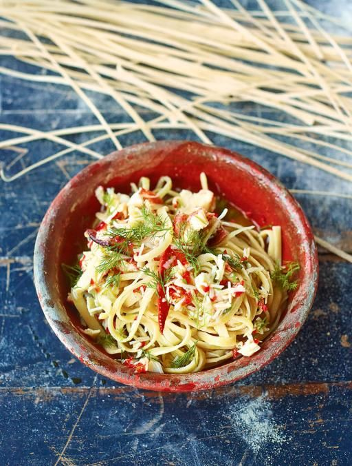 Crab linguine - Quick, simple & a bit special This is super-quick to put…