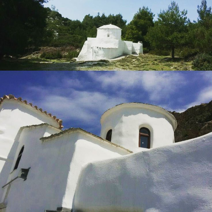 One of the many hidden churches of Skyros #skyros #island #greece #roomstolet #travel #summer #easter #sea #smallport #sailing #aegeansea #sporades #church #smallchurch #forest #hidden #view #traditional #tradition #orthodox