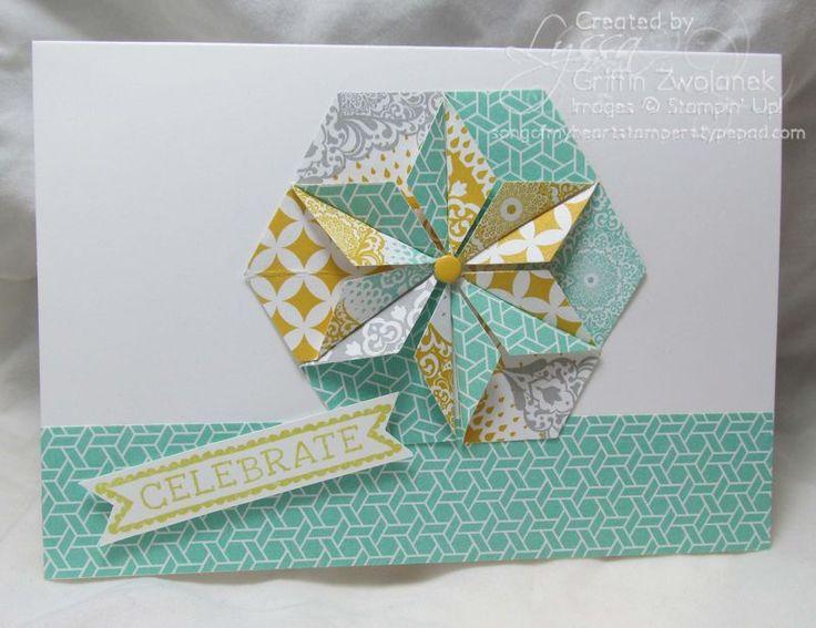 Hexagon Punch Star Fold Card