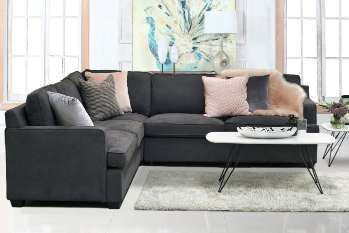 Wembley 5 Seater Fabric Modular With Rhf Sofabed Sofa Bed