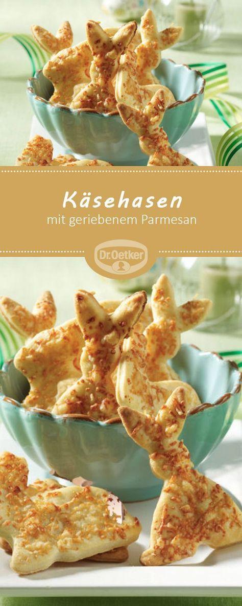 Käsehasen: Ein pikantes Gebäck mit geriebenem Parmesan für den Osterbrunch #ostern #osterhase #rezept