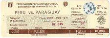 Peru 1993 Ticket Qualifying World Cup Soccer FIFA USA 94 Peru v/s Paraguay