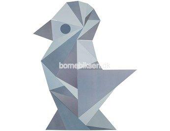 Sebra wallsticker, geometrisk fugl, dreng