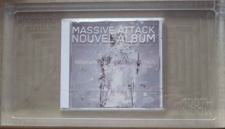 Rare french promo of 100th window encased in a glass case for 100th window vinyl