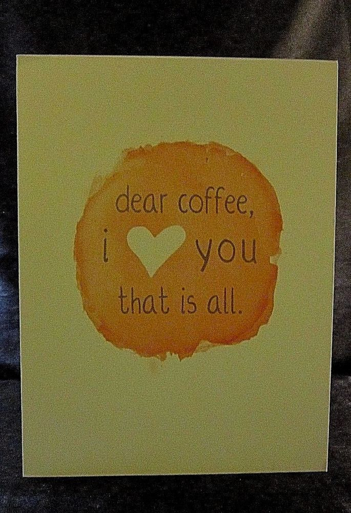 "SOLID WOOD LAMINATED WALL/DESK PLAQUE - ""Dear Coffee, I love you. That is all."" #DesignsDirectCreativeGroup #Contemporary $12.99"