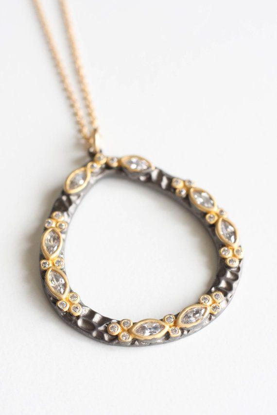 Black rhodium & 18KG plated charm pendant Gold by moemiSugimura