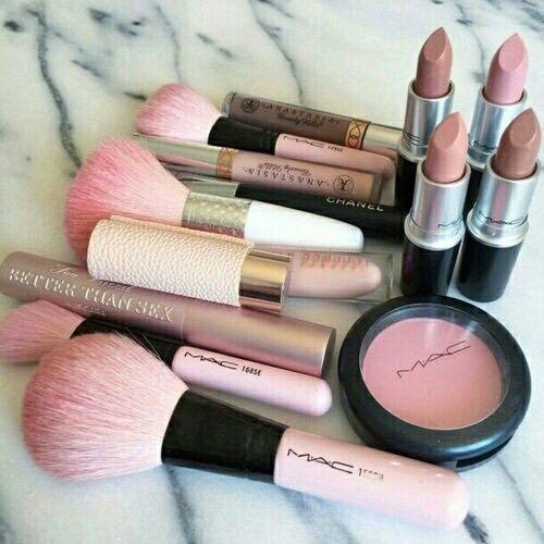 mac, makeup, and pink