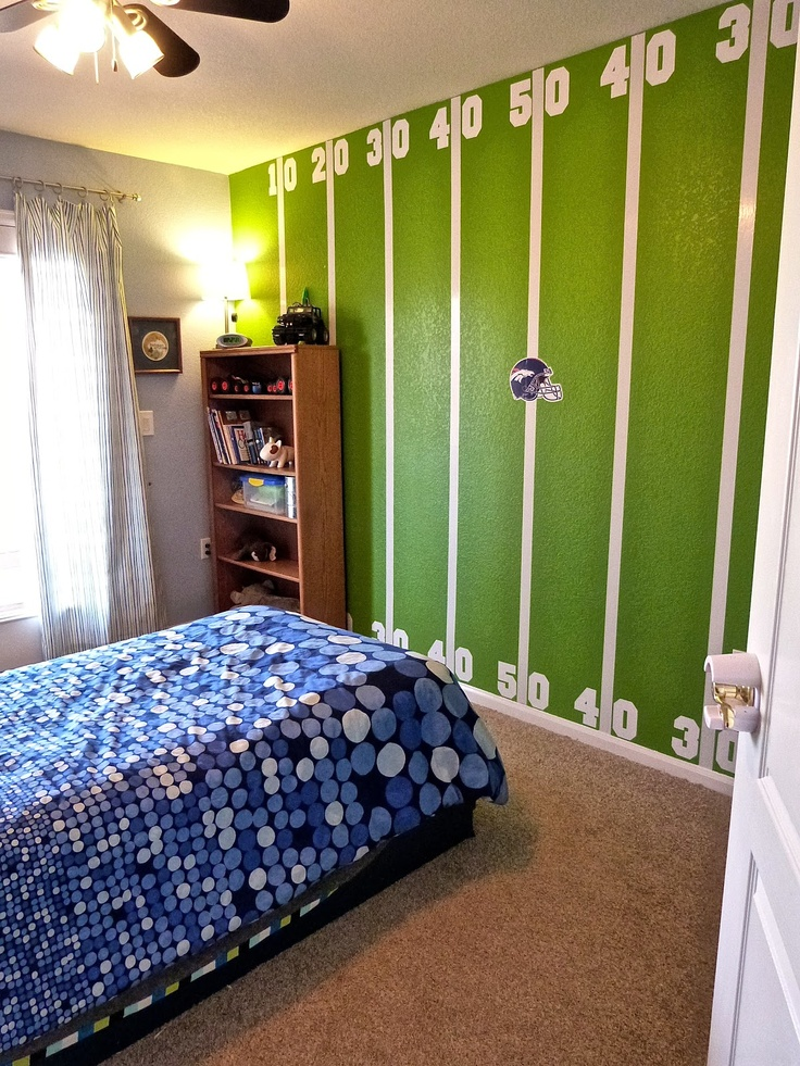 Best Football Theme Bedroom Ideas On Pinterest Football - Boys room paint ideas stripes sports