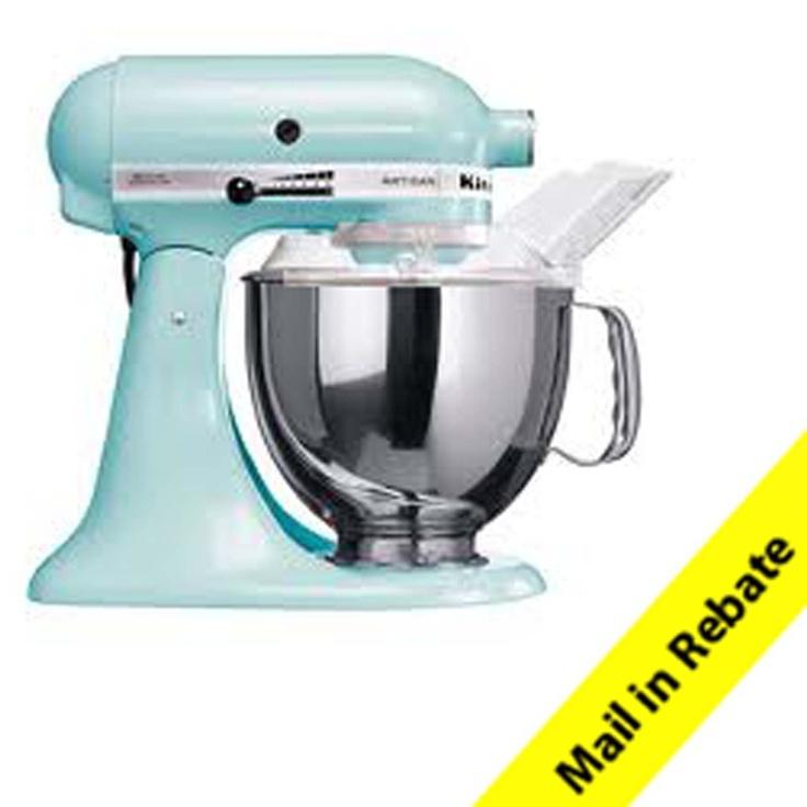 Kitchenaid artisan 5 quart stand mixer in ice blue