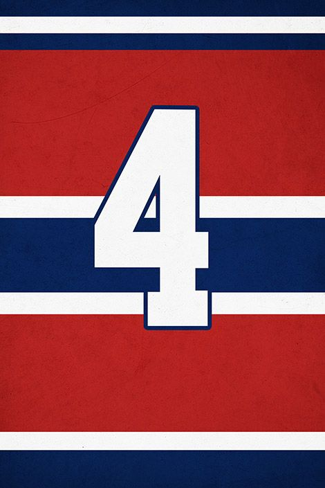 """Jean Beliveau Jersey on Print. See more at www.finesportsprints.com #beliveau #jerseyart #canadiens"