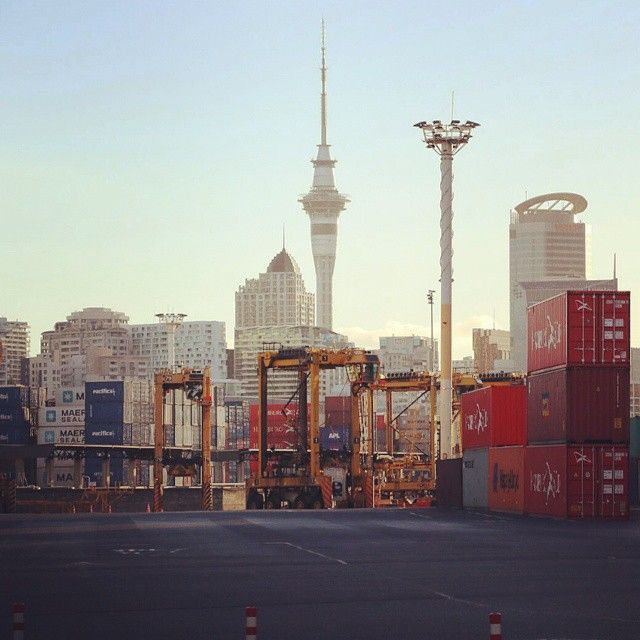 Sky Tower from Port of Auckland <Auckland, New Zealand> スカイタワー <ニュージーランド オークランド> #newzealand #auckland #skytower #ニュージーランド #オークランド #スカイタワー