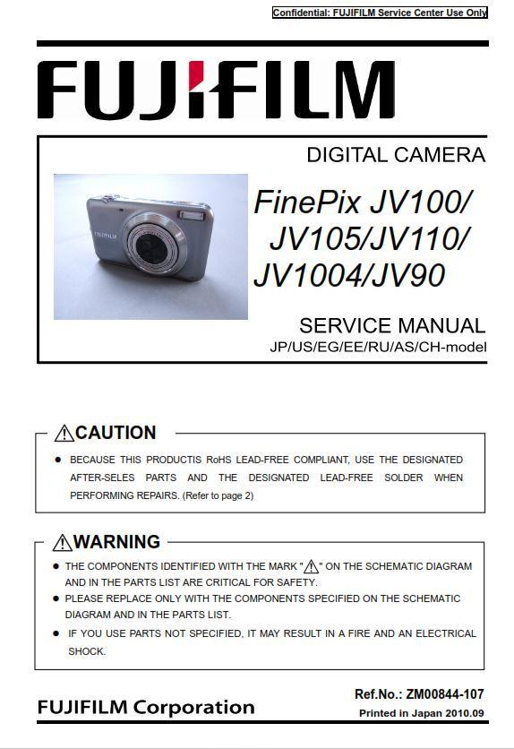 Fujifilm Finepix Jv100 Jv105 Jv110 Jv1004 Jv90 Digital Camera Service Manual Repair Guide Fujifilm Finepix Digital Camera Finepix