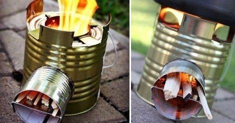Aprende a fabricar esta perfecta mini-cocina para ir de camping.