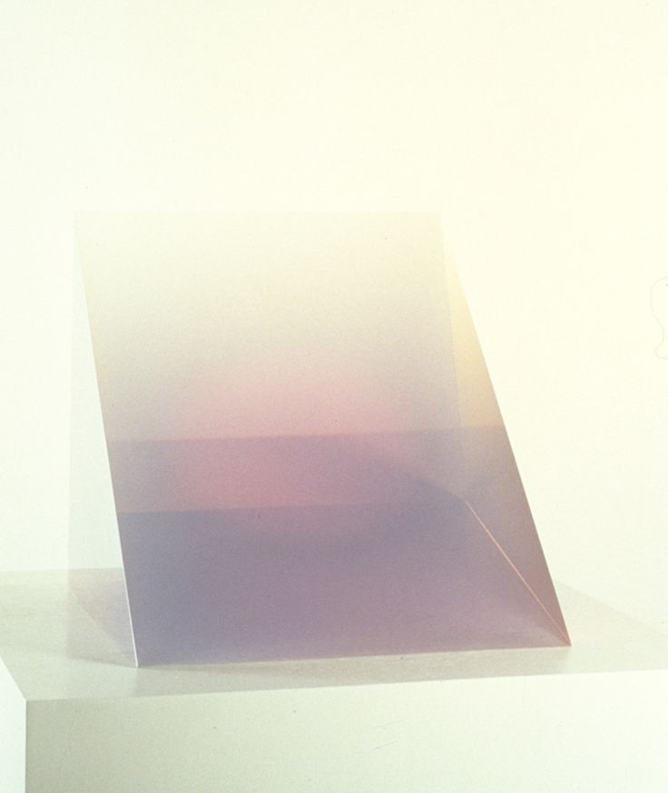 Peter Alexander, Violet Wedge, 1969, Cast Polyester Resin, 12 x 11 x 11