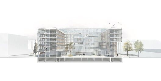 Henning Larsen Architects Wins Competition to Design New City Hall in Uppsala,© Henning Larsen Architects