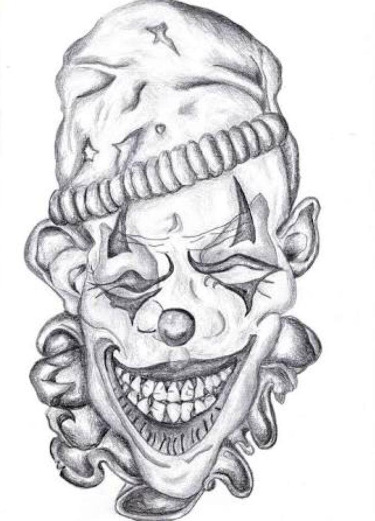 новым злые клоуны картинки эскизы было нарисовано одном