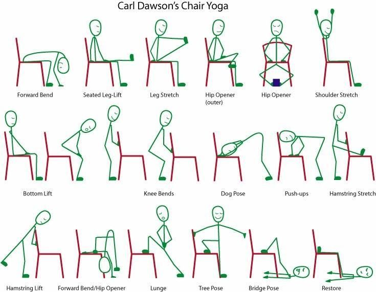 188 best yoga avec chaise images on pinterest | chair yoga, yoga