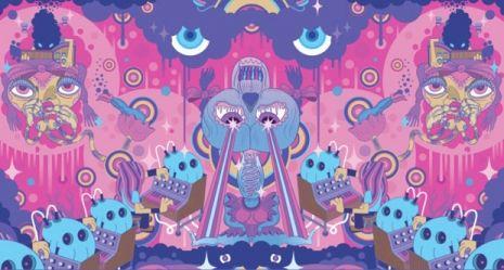 Vous avez enregistré sur ILLUSTRATION  The hallucinogenic Pop artwork of Japanese master Keiichi Tanaami  More Super Furry Animals album art for 'Dark Days/Light Years.'