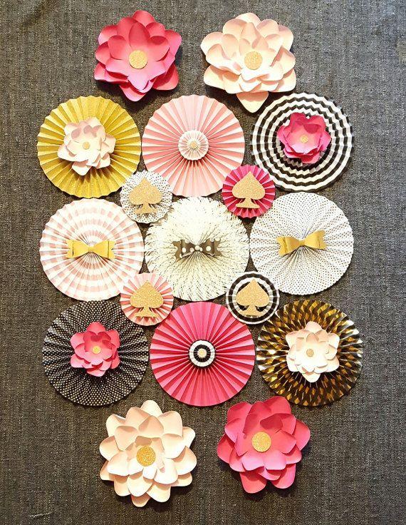Kate Spade inspirado ventiladores de papel por DesignwithElegance