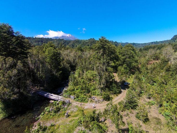 Foto con Drone Entrada Valle del Río Blanco