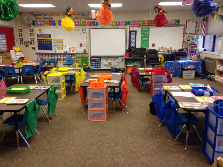 Classroom Setup Ideas For Middle School ~ Chair pockets fun colorful carpeted middle school