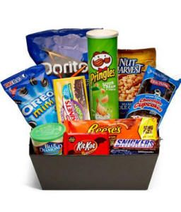 Ultimate Junk Food Basket 4499 Giftbasketconnection Giftbaskets Candybaskets Candy Junkfood Sameday Delivery SAME DAY DELIVERY