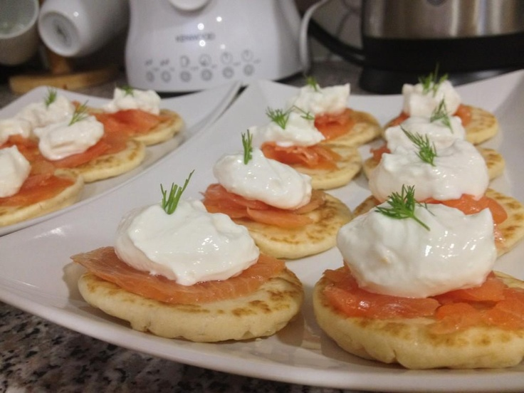 dinner party canapes that I've made a few times now.. Smoked Salmon ...
