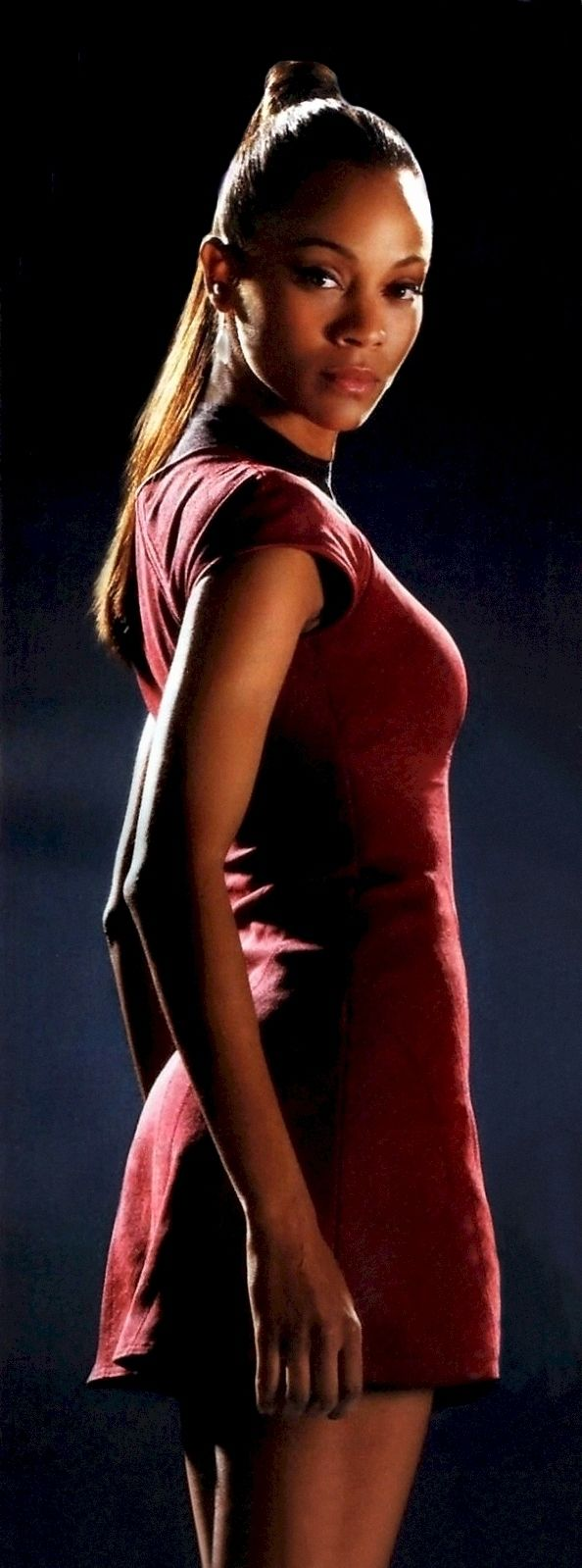 Zoë Saldana as Uhura in the 2009 film Star Trek