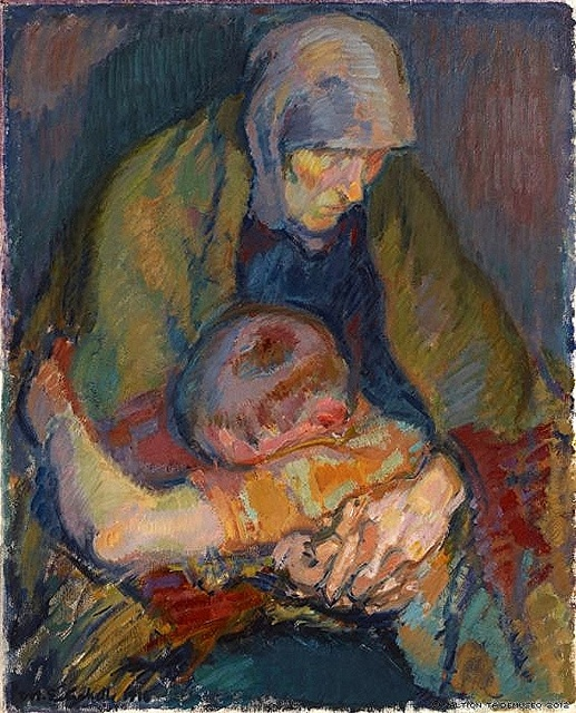 Enckell, Magnus (1870-1925) - 1916 Pieta (Finnish National Gallery, Helsinki…