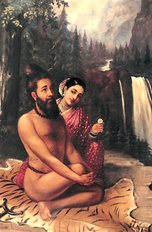 Menaka_Vishwamitra_by_RRV.jpg 490×749 pixels