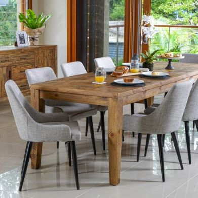 Oslo 2500 Dining Table with Patchwork Top (2500W x 900D x 785H mm) RRP $999