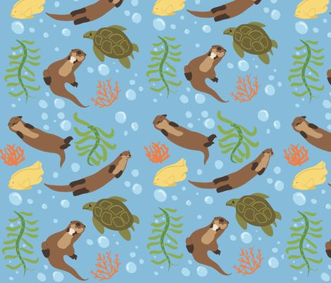 California coast fabric by aluaces on spoonflower i can for Where can you get fabric