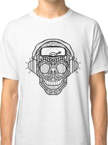Sugar Skull - Headphones - Complicated Coloring Classic T-Shirt - Image by  www.complicatedcoloring.com