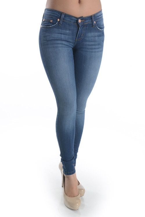 Medium Wash Denim Skinny Jeans