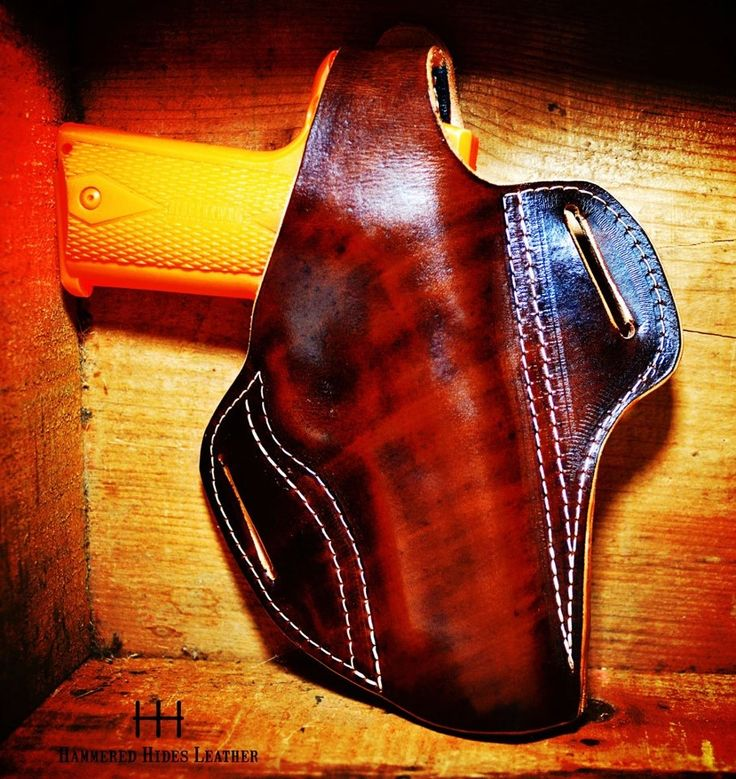1911 leather holster from www.hammeredhidesleather.com