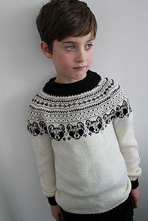 I just love a circular yoke sweater. If it has