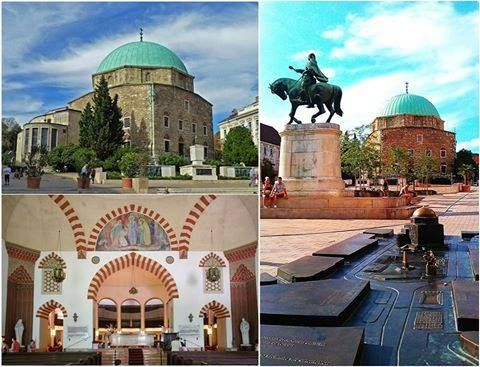 The Mosque of Pasha Qasim is one of the symbols of the city of Pécs, Hungary, located in the city centre, on the main square (Széchenyi square).