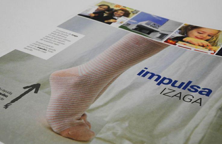 Realización de folletos para la campaña de Impulsa Izaga, destinada a apoyar el proyecto del centro escolar Irabia-Izaga - Calle Mayor Comunicación y Publicidad