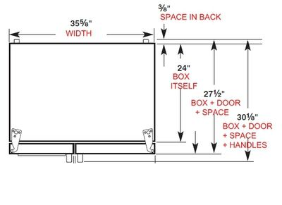 Counter Depth Refrigerator Dimensions