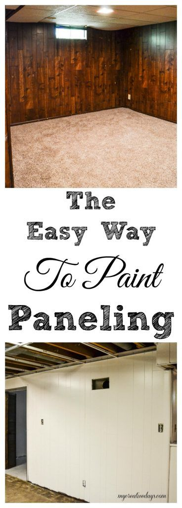 The Easy Way To Paint Paneling - If you have paneling in your home and would like to change it but don't have a big budget, paint it! This post will show you The Easy Way To Paint Paneling!