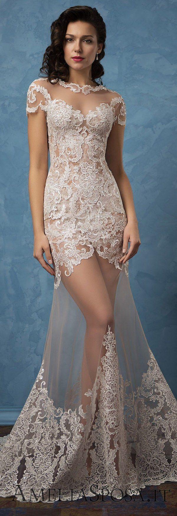 Long sleeves wedding dresses from belfaso weddingideas dress lace