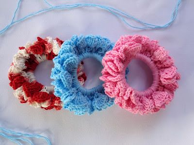 Stitch of Love: Crochet pattern for hair scrunchies