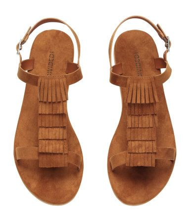 Sandals with Fringe | Brown | Ladies | H&M US