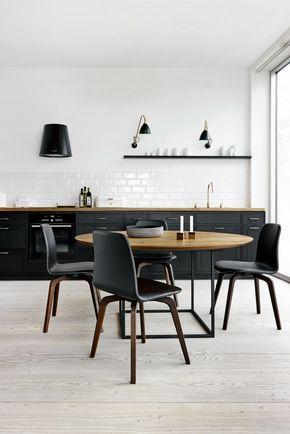 Die besten 25+ schwarze Küchen Ideen auf Pinterest Marine - küche hochglanz oder matt