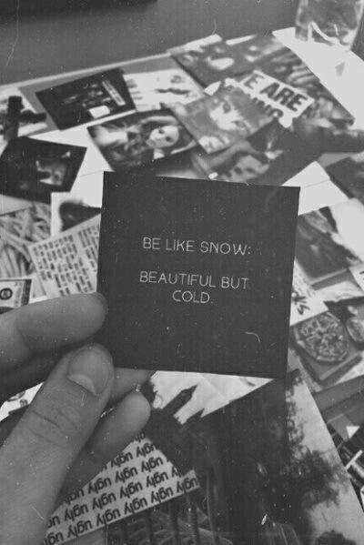 be like snow ❄
