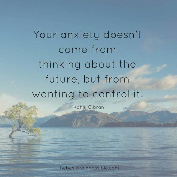 The only thing you can control is you. When you start controlling your mind, your life changes for the better.